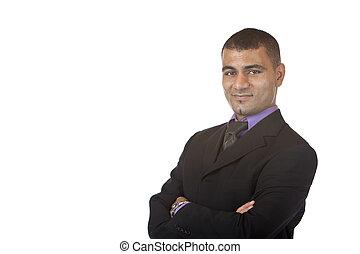 self confident Business man - Businessman smiles self...