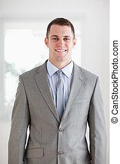 Self-confident businessman - Smiling self-confident ...