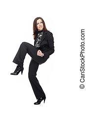 Self-confident businesswoman - Active self-confident...