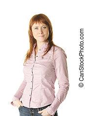 Self-confident woman - Self-confident redhead woman in ...