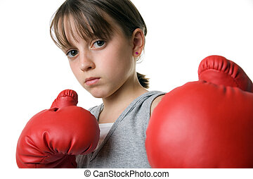 Self Defence - A young girl taking up Queensbury Rules