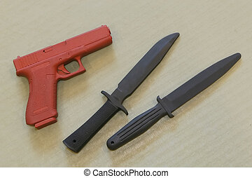 Self Defence Practice Weapons - Self defence practice...