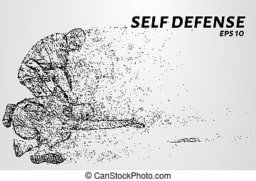 Self-defense of the particles. The man disarmed the...