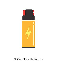 Self defense spray can vector illustration, flat icon,...