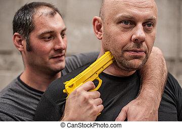 Self defense techniques against a gun - Kapap instructor ...