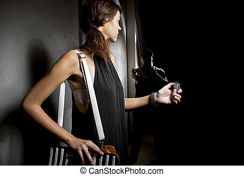 Self Defense with Pepper Spray - woman using a pepperspray ...