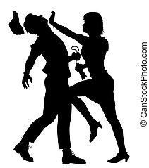 Self defense woman
