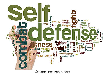 Self defense word cloud