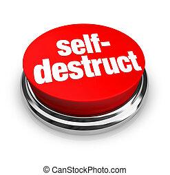 self-destruct, ボタン, -, 赤