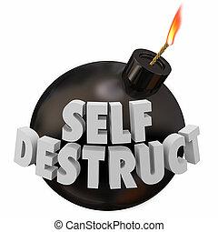 Self-Destruct Bomb Suicidal Behavior 3d Illustration
