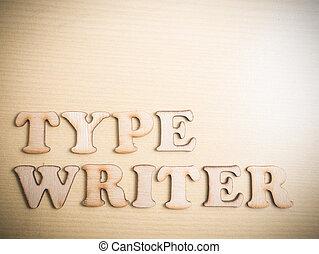 Self Development Motivational Words Quotes Concept, Type Writer
