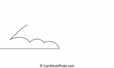 Self drawing animation of continuous one line drawing of ...