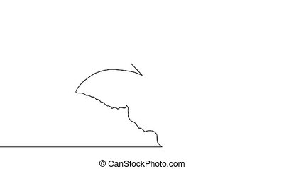 Self drawing simple animation of single continuous one line ...