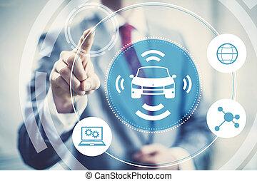 Self-driving car concept - Autonomous self-driving car...