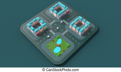 Self-driving cars - 3D Animation