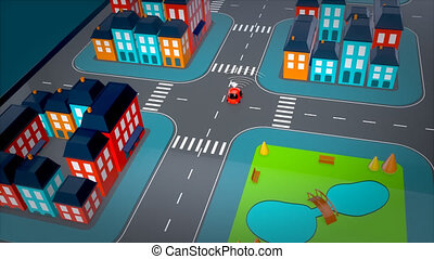 Self-driving concept - 3D Animation