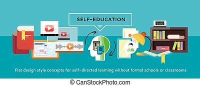 Self-education Concept