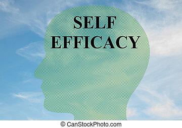 Self Efficacy concept - Render illustration of 'SELF...
