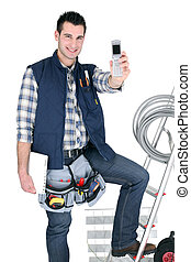 Self-employed electrician