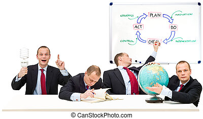 Self Employment - Conceptual image running a privately owned...