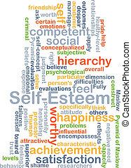 Self-esteem background concept