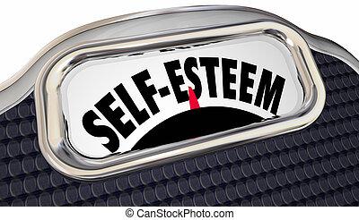 Self Esteem Confidence Assured Attitude Scale Words