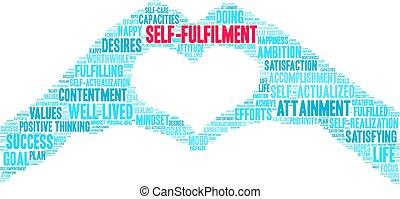 Self-Fulfilment Word Cloud - Self-Fulfilment word cloud on a...