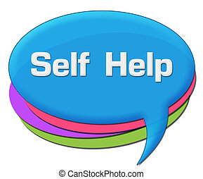Self Help Colorful Comment Symbol - Self help text written...
