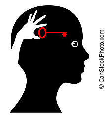 Self Help - Concept sign of woman with self awareness and do...