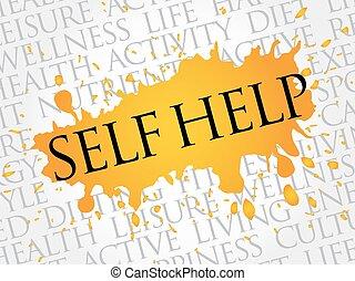 Self Help word cloud