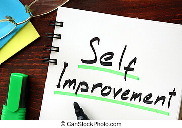 Self improvement sign