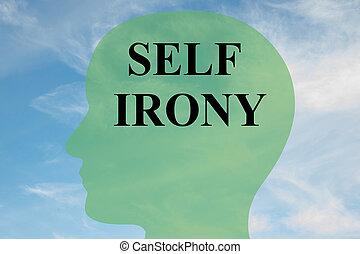 Self Irony concept