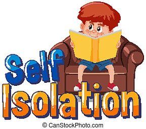 Self isolation to avoid spreading corona virus illustration