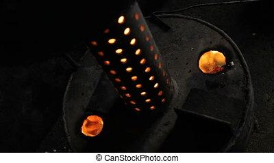 Self-made waste oil heat furnace