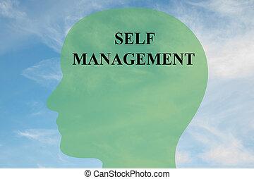 Self Management - mental concept - Render illustration of...