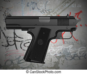 self-pointing gun - Impossible gun pointing at shooter with...