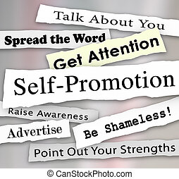 Self-Promotion Headlines Marketing Publicity Attention -...