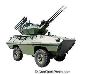 armored vehicle - self-propelled anti-aircraft armored...