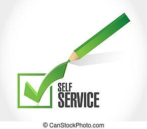 self service check mark illustration design