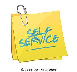 self service post it memo