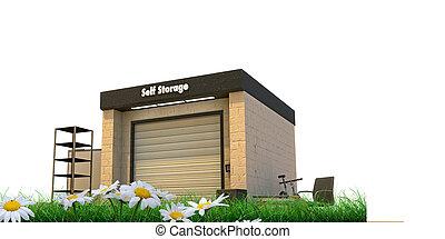 self stoage - self storage isolated on white background