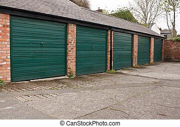 Self storage garages - Residential Garage block often found...