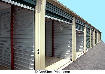 self storage units photographed in Georgia.
