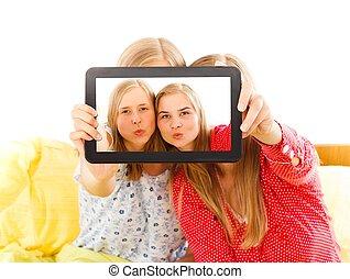 selfie, canard, figure