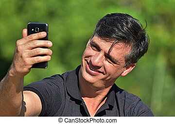 selfie, colombiano, hombre