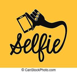 selfie concept design, vector illustration eps10 graphic