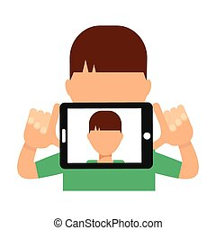 selfie concept design, vector illustration eps10 graphic