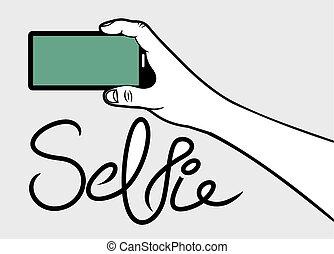 selfie, concept