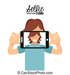 selfie design - selfie design, vector illustration eps10...
