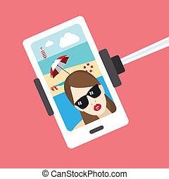selfie, girl, photo.